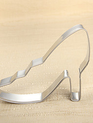 Fashion Lady's High Heeled Shoe Shape Cookie Cutters Fruit Cut Molds Stainless Steel