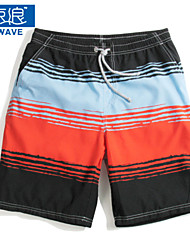 Men's Casual Striped Board Shorts (Polyester)