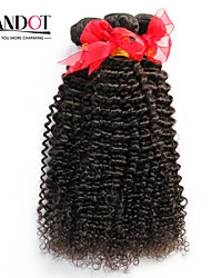 "8""-30"" Natural Black 6A Brazilian Curly Hair Weave 4Pcs/Lot 100% Unprocessed Brazilian Virgin Kinky Curly Hair"