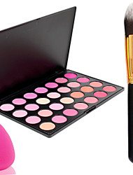 Pro Party 28 Colors Face Blush Blusher Powder Palette + Powder Brush+Powder Puff