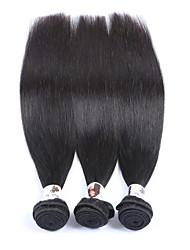 "3Pcs/Lot+8""-34""+Peruvian (Italian)Human Virgin Hair+ color(natural black)+Straight"