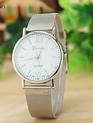 Mulheres Relógio de Moda Quartz Couro Banda Relógio de Pulso Prata / Dourada