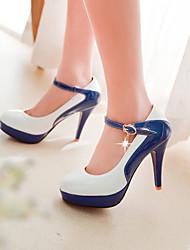 Zapatos de mujer - Tacón Stiletto - Tacones / Punta Cerrada - Tacones - Vestido - Semicuero - Negro / Azul / Rosa / Blanco