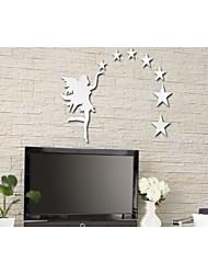 Estrelas de fadas espelho faça você mesmo adesivos de parede adesivos de arte