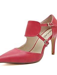 Calçados Femininos - Saltos - Saltos - Salto Agulha - Preto / Vermelho - Sintético - Casual