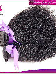 3Pcs Lot Indian Kinky Curly Hair Wefts Mix Length 12-22 Inches Virgin Human Hair Extensions #1B Color