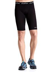 Corrida Shorts / Fundos Homens Respirável / Secagem Rápida / Vestível / Compressão / Materiais Leves / Elástico Elastano / Náilon Chinês