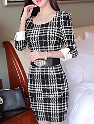 Women's Black Dress , Work ¾ Sleeve