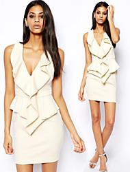 Sexy V-Ausschnitt - Ärmellos - FRAUEN - Kleider ( Polyester )