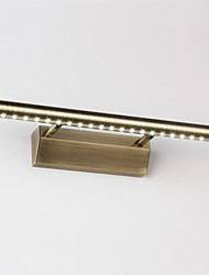 Modern Led Wall Light AC85-265V Banheiro Bronze Gold Bathroom Mirror Lamp 7W Bed Room Sconces Light Fixtures
