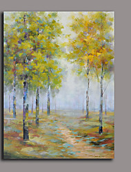 Floral/Botanical Oil Painting Hand-Painted Wall Art Other Artists hand-painted oil painting