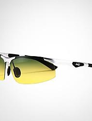 Gafas de Sol hombres's Ligeras Envuelva Negro / Plata Gafas de Sol / Conducción / Gafas de visión nocturna Media Montura