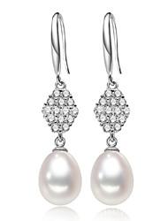 z & x® 925 argenté perles fraîcheur de l'eau / boucles d'oreilles en strass mariage / fête / jour