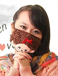 Lovely Cartoon Pattern Fleece Anti-Dust Adult Respirator Face Masks Health Gauze Mask (Random Color)