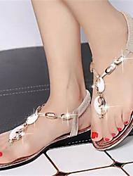 Sandalias ( PU , Dorado/Plateado )- 0-3cm - Tacón plano para Zapatos de mujer