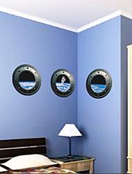 3 шт космические астронавты окно пвх наклейки наклейки для стен