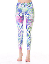 Yokaland Yoga Pants Body Shaper Slim Fit Yoga Capri With Print Sports Wear