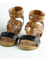 Girls' Shoes Casual Round Toe/Open Toe Sandals Black