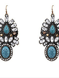 Drop Earrings Gemstone Alloy Fashion Screen Color Jewelry 2pcs