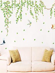 stickers muraux stickers muraux, vert feuilles de style muraux PVC autocollants