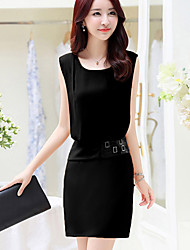Women's Vintage/Sexy/Bodycon/Beach/Casual/Cute/Party  Sleeveless Above Knee Dress