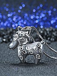 925 серебряное ожерелье кулон ювелирные изделия окно овец в этом году животных знаки овец кулон