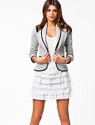 NUNEU  Women's Casual Long Sleeve Suits & Blazers (Cotton)