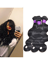"3pcs/lot 8""-34""Peruvian Virgin Hair Body Wave 300g #1b Peruvian Virgin Hair Bundles Human Hair Extensions"