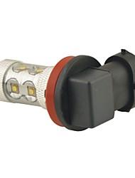 carking ™ h8 / h11 60w 6000k 12SMD 2800 ml lumière blanche conduit brouillard ampoule lampe de tête de la lumière de conduite (dc 12v)