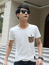 nieuwe heren t-shirt mannen katoen ronde hals T-shirt voor mannen zomer authentieke persoonlijkheid