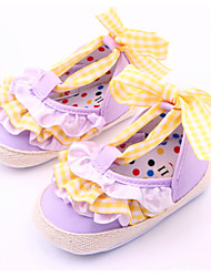 Baby Shoes Casual Fabric Loafers Purple/White