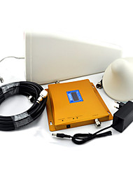 LCD Display CDMA 850mhz DCS 1800mhz Dual Band Mobile Phone Signal Booster with Log Periodic Antenna and Ceiling Antenna