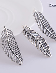 Euner® Pandora Silver Feather 925 Sterling Silver Loose Beads Charms Fit Bracelet DIY Fine Jewelry