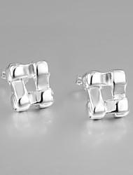 venda da promoção italy s925 prata banhado brincos para senhora jóias declaração multa para as mulheres