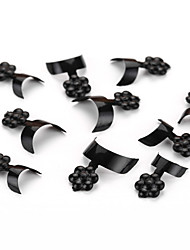 100PCS Mixed Sizes Black Nail Art Tip Guides French Tips Guide False Acrylic Tips Decorations