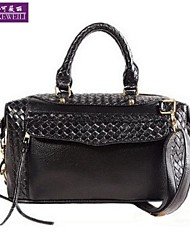 AIKEWEILI®Women's Handbag Fashion New Style Black PU Leahter Totes Shoulder Bag Casual Hopo Crossbody Bag