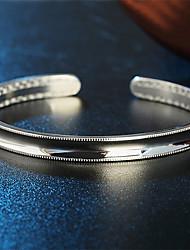 Japon et en Corée S999 argent bracelets manchettes de surface lisse sud
