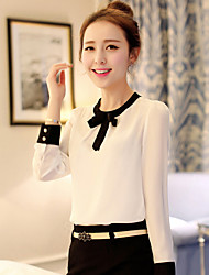 Women's Casual/Cute/Party Square Long Sleeve Tops & Blouses