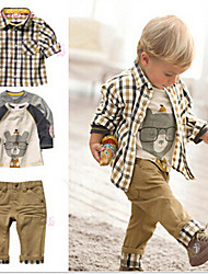 Boy's Cotton / Polyester Clothing Set,All Seasons Striped