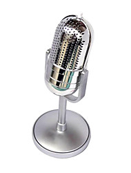 Classical Design Retro Wired Stereo Computer Microphone with Holder for PC Laptop Desktop Mic FE-16