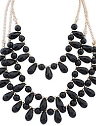 Women's Europe And The United States Three Layers Of Beads Alloy Necklace Collarbone Chain