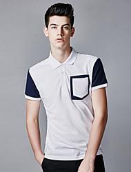 Men's pocket Fine Cotton polo shirt