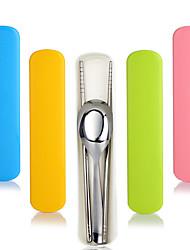 gigognes portables sets de coutellerie en acier inoxydable baguettes cuillère (couleur aléatoire)
