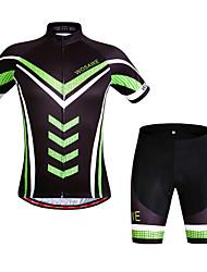 Tenus ( Noir ) de Pêche/Sport de détente/Cyclisme - Respirable/Séchage rapide/Pare-vent/mèche  à  Manches courtes pour Unisexe