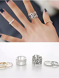 Ring Wedding / Party / Daily / Casual Jewelry Alloy Women Midi Rings 1set,7