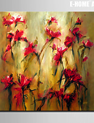 Stretched Canvas Art Floral Struggle for Eexistence