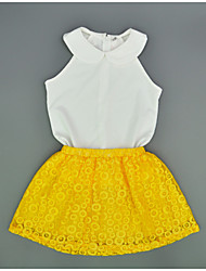 Kid's Vintage/Casual Dress (Cotton)