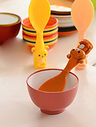 Cute Cartoon Animal Shape Non Stick Standing Rice Paddle Scoop Spoon (Random Color)