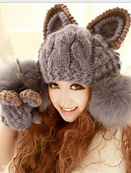Women Lovely Angle Of Demon Cat Ear Hat Knitting Hat In winter
