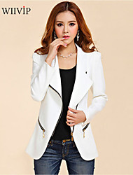 Women's Casual/Work/Plus Sizes Medium Long Sleeve Regular Blazer (Cotton/Polyester)WP7D11